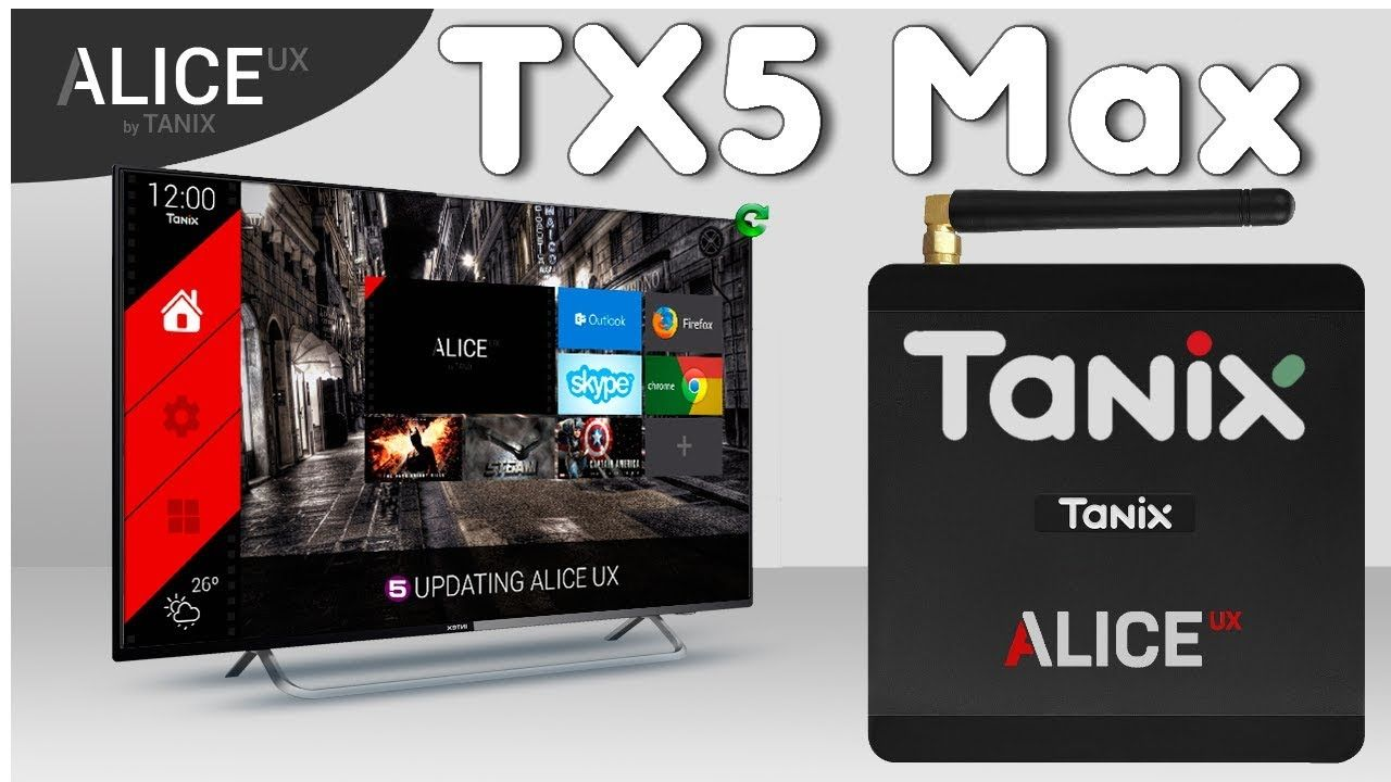 Tanix TX5 Max Amlogic S905X2 Android 8.1 Alice UX 4K TV