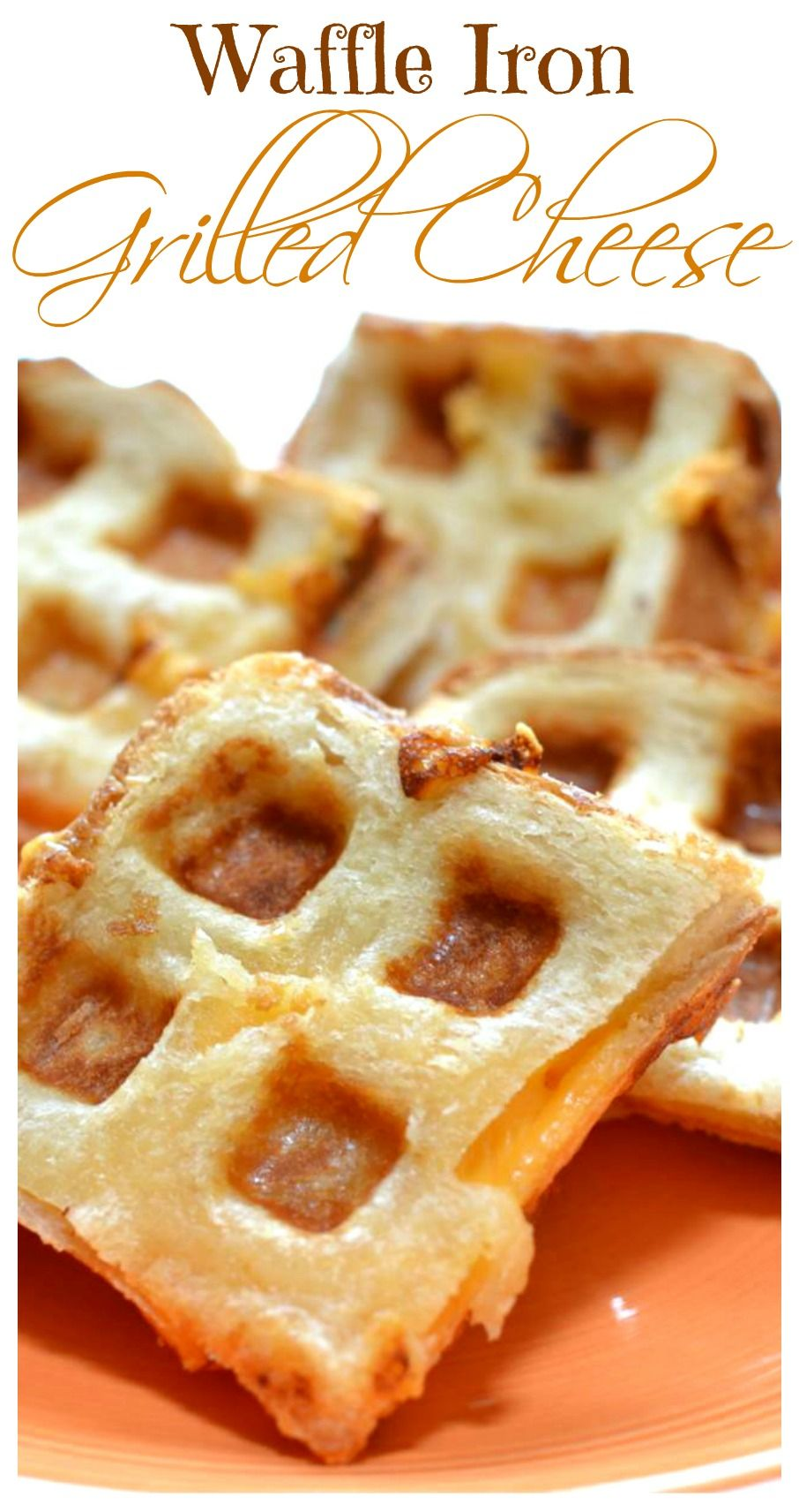 Hot, melted cheese in between fresh bread cooked to golden-brown perfection. Made easily right in your waffle iron!