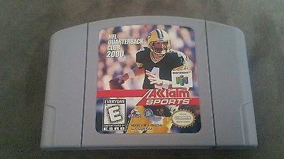 Nintendo 64 NFL Quarterback club 2000 Aklaim Sports vintage game