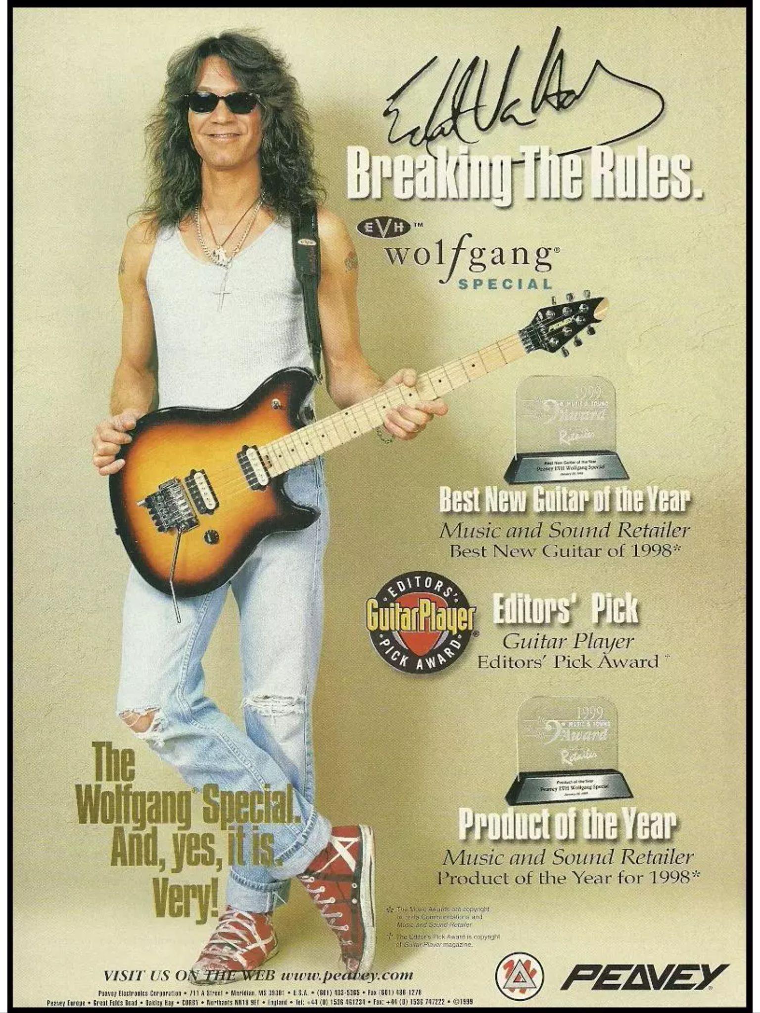 Peavey Evh Wolfgang Van Halen Eddie Van Halen Alex Van Halen