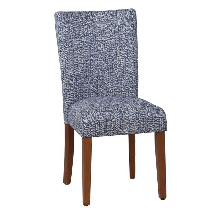 Kelsi Upholstered Parsons Chair in Blue | Parsons chairs ...