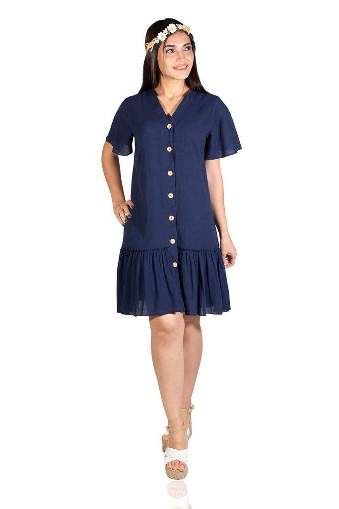 Women's Navy Blue Short Dress #navyblueshortdress