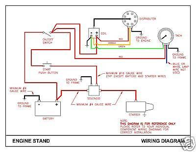 car electrical schematic diagram of engine starter wiring diagrams Automotive Engine Running Stands