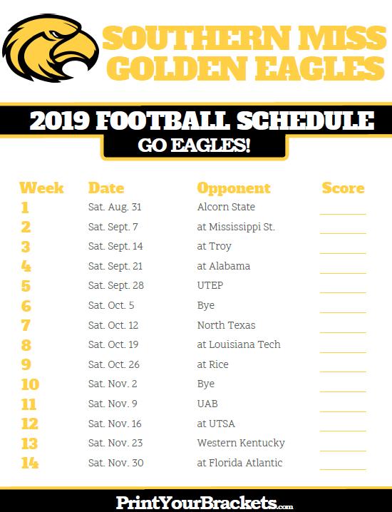 Printable Southern Miss Golden Eagles Football Schedule Iowa Hawkeye Football Iowa Hawkeyes Iowa Football
