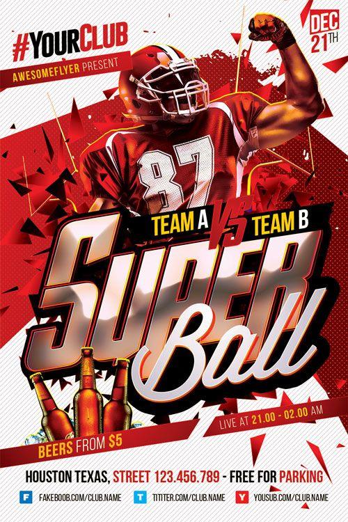 Super Bowl Flyer Template Http Ffflyer Com Super Bowl Flyer Template Enjoy Downloading The Super Bowl Flyer Flyer Flyer Template Free Psd Flyer Templates