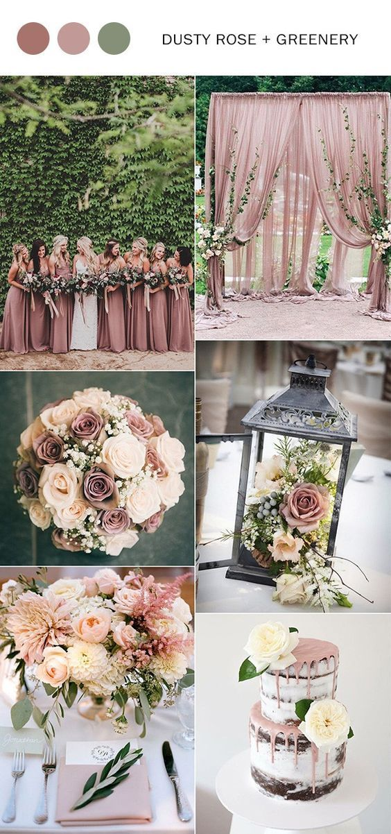 Top 10 wedding color ideas for 2018 trends casamento chs de dusty rose and greenery wedding color ideas 2018 weddings weddingcolors weddingtrends weddingcolors2018 junglespirit Gallery