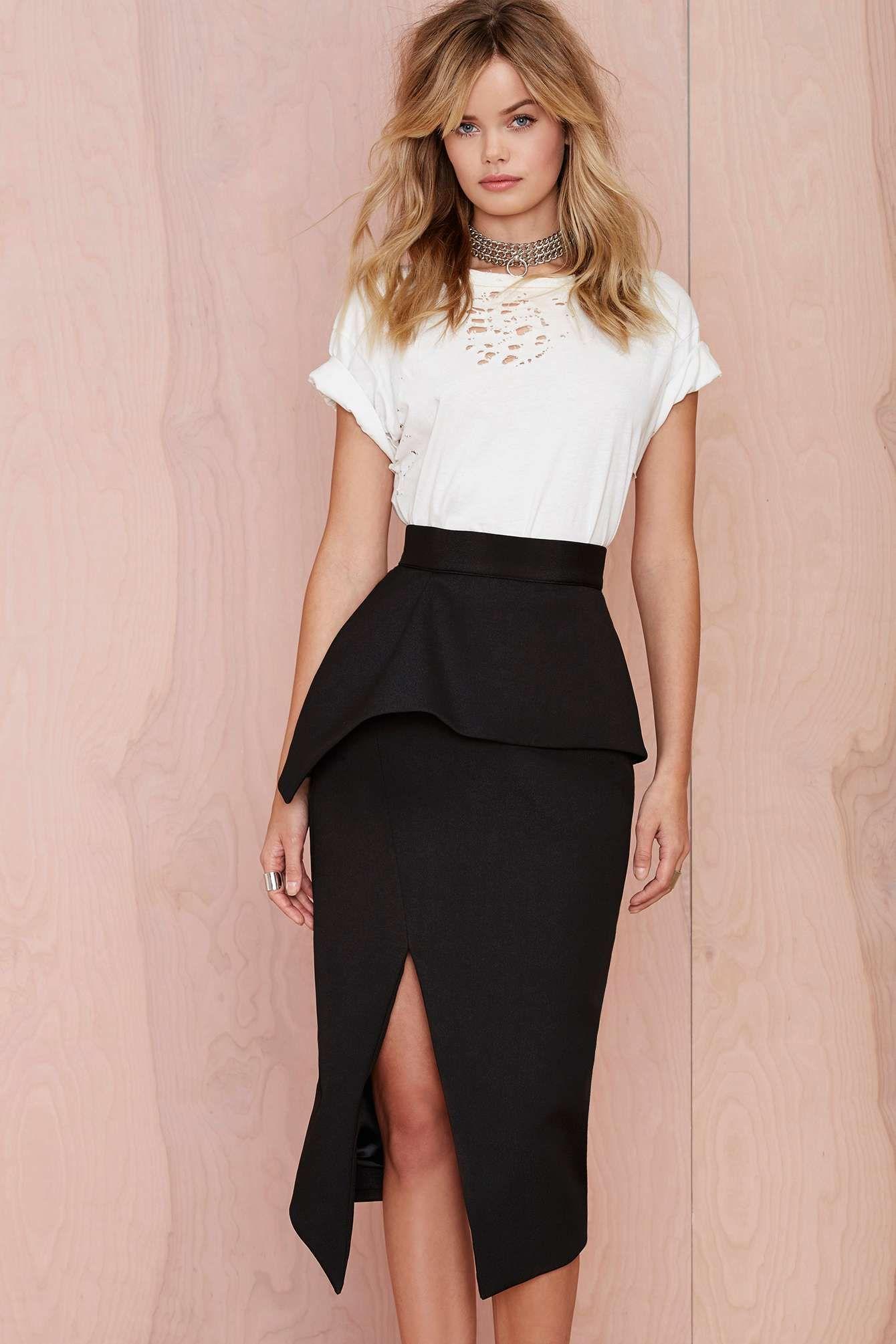 71d9f6e01d Nana Judy Slit Up Peplum Skirt | Shop Clothes at Nasty Gal! | Closet ...