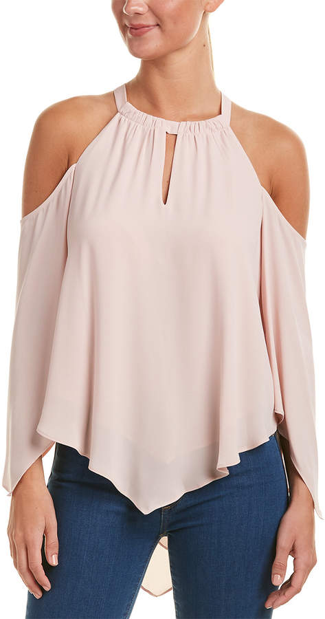 fa2ed7c650bc9 BCBGMAXAZRIA Cold-Shoulder Top