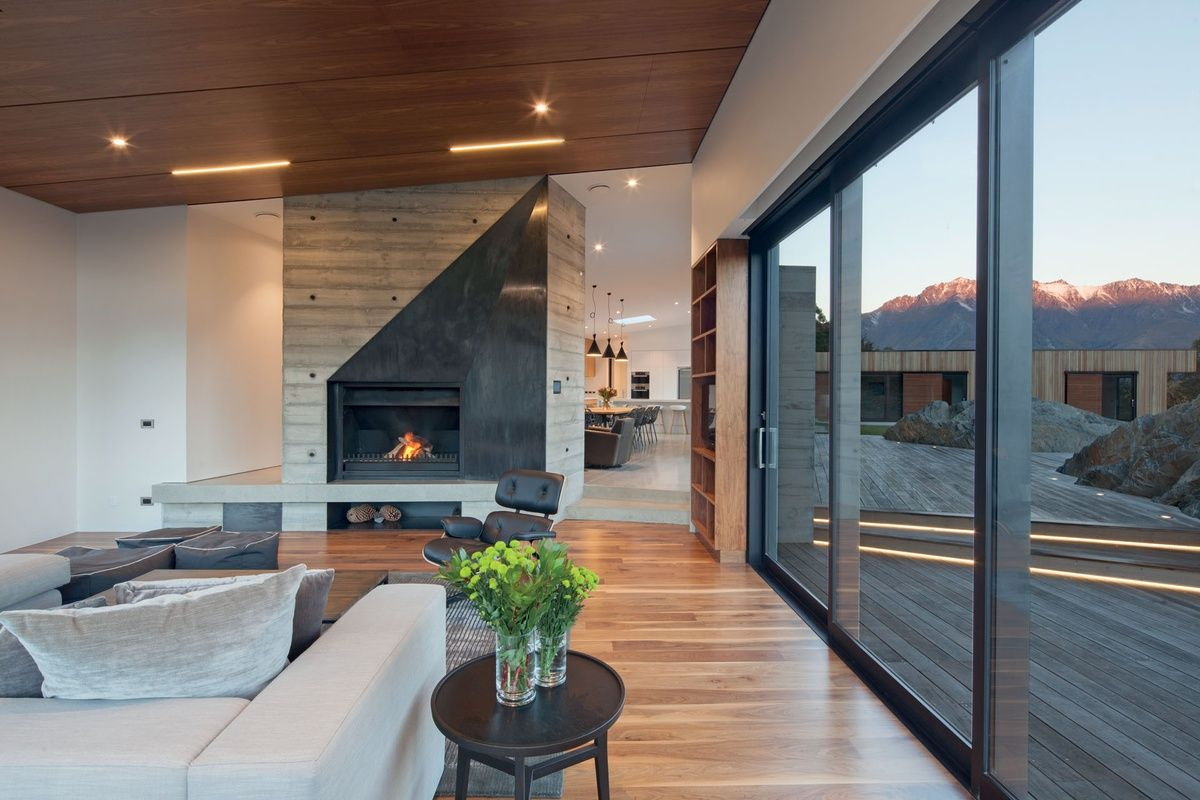 Closeburn station house architecture now · new zealand housesconcrete