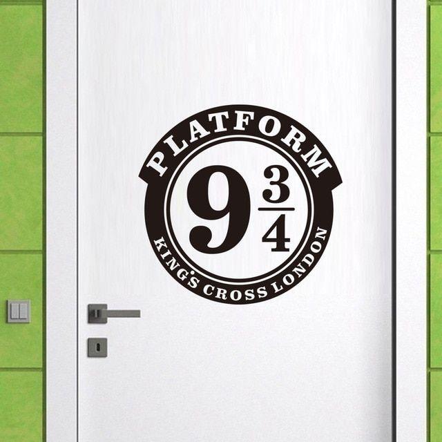Harry Potter platform 9 3//4 vinyl wall//window//car stickers decor//decals room