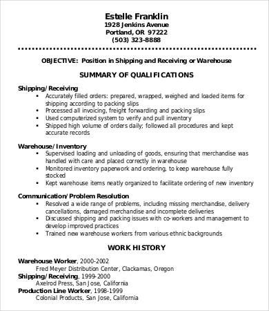 Warehouse Manager Resume Templates 11+ Free MS Word  PDF Resume
