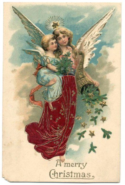 Vintage Angels Angels Vintages Cards Christmas Wallpapers Free Clipart For Xmas Icon S Web Vintage Christmas Christmas Angels Vintage Christmas Cards