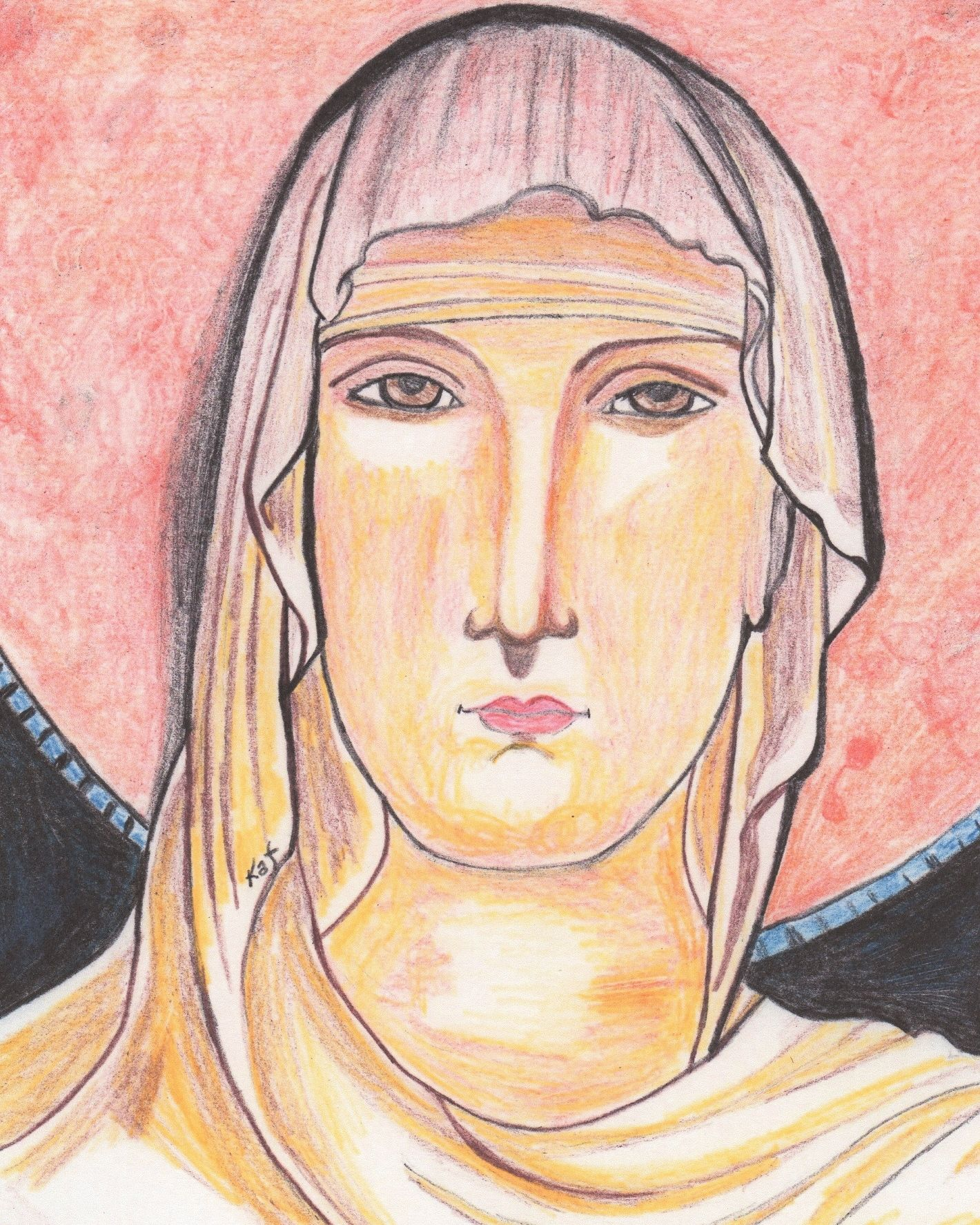St  Clare of Assisi by Kathleen Ellinger, OFS | Drawings of Jesus