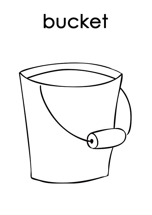 B Is For Bucket Coloring Pages Best Place To Color Coloring Pages Color Coloring Pages For Kids