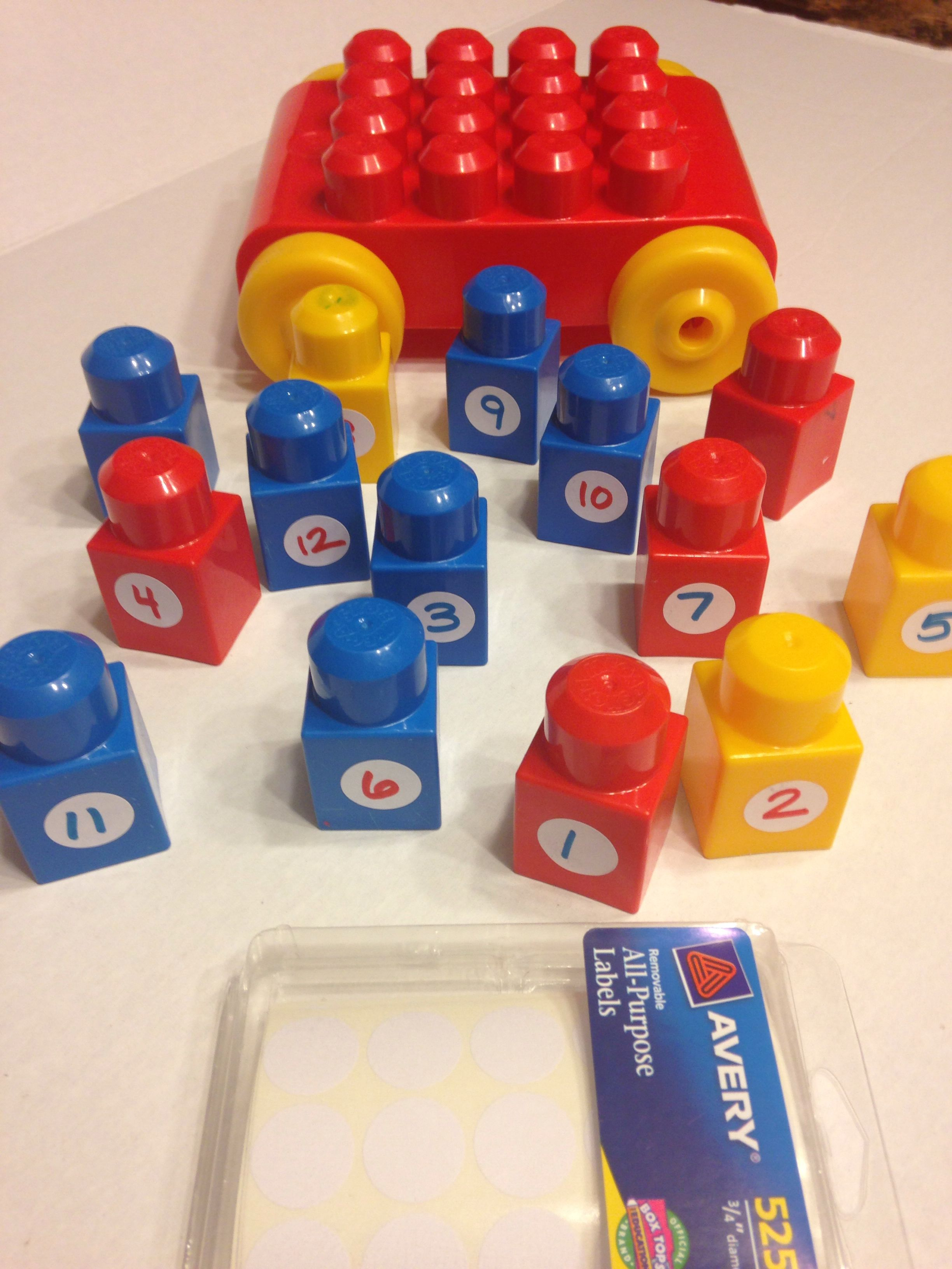 Legos Number Drive All Purpose Labels Number Flash Card