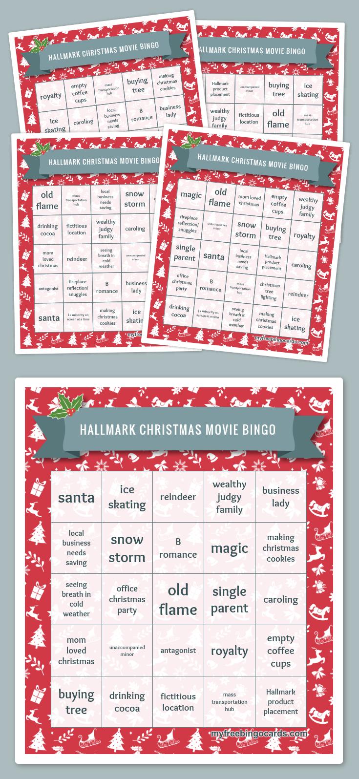 Hallmark Christmas Movie Bingo Christmas bingo, Hallmark