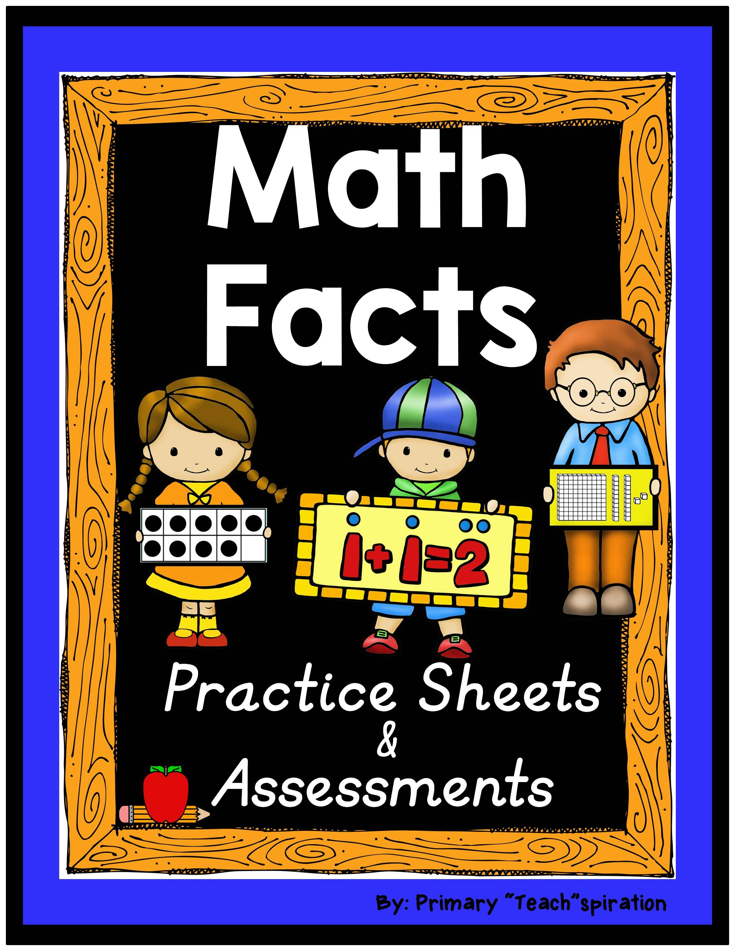 Math Facts Practice Worksheets And Assessments