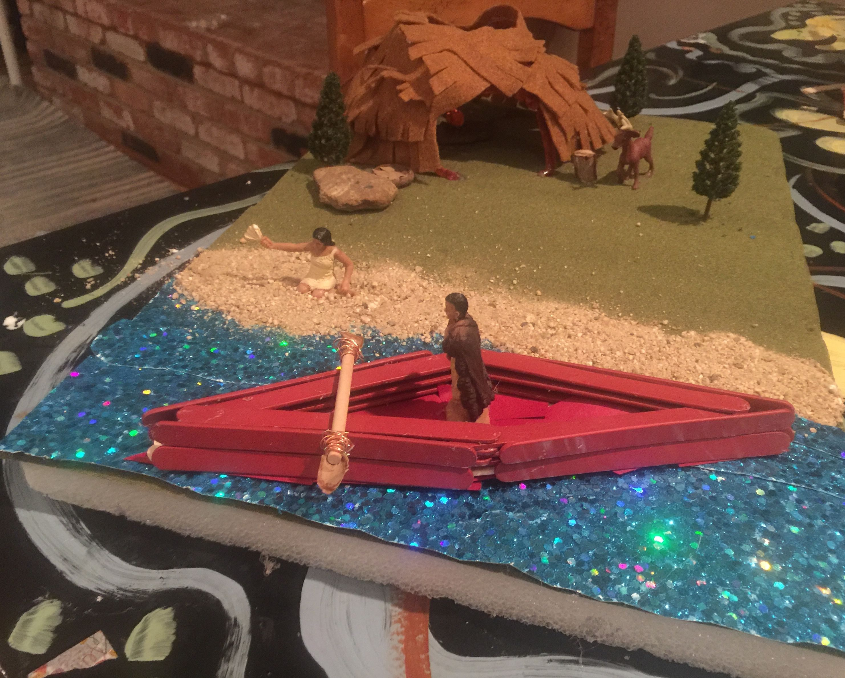 Chumash Village Fourth Grade Project In Progress