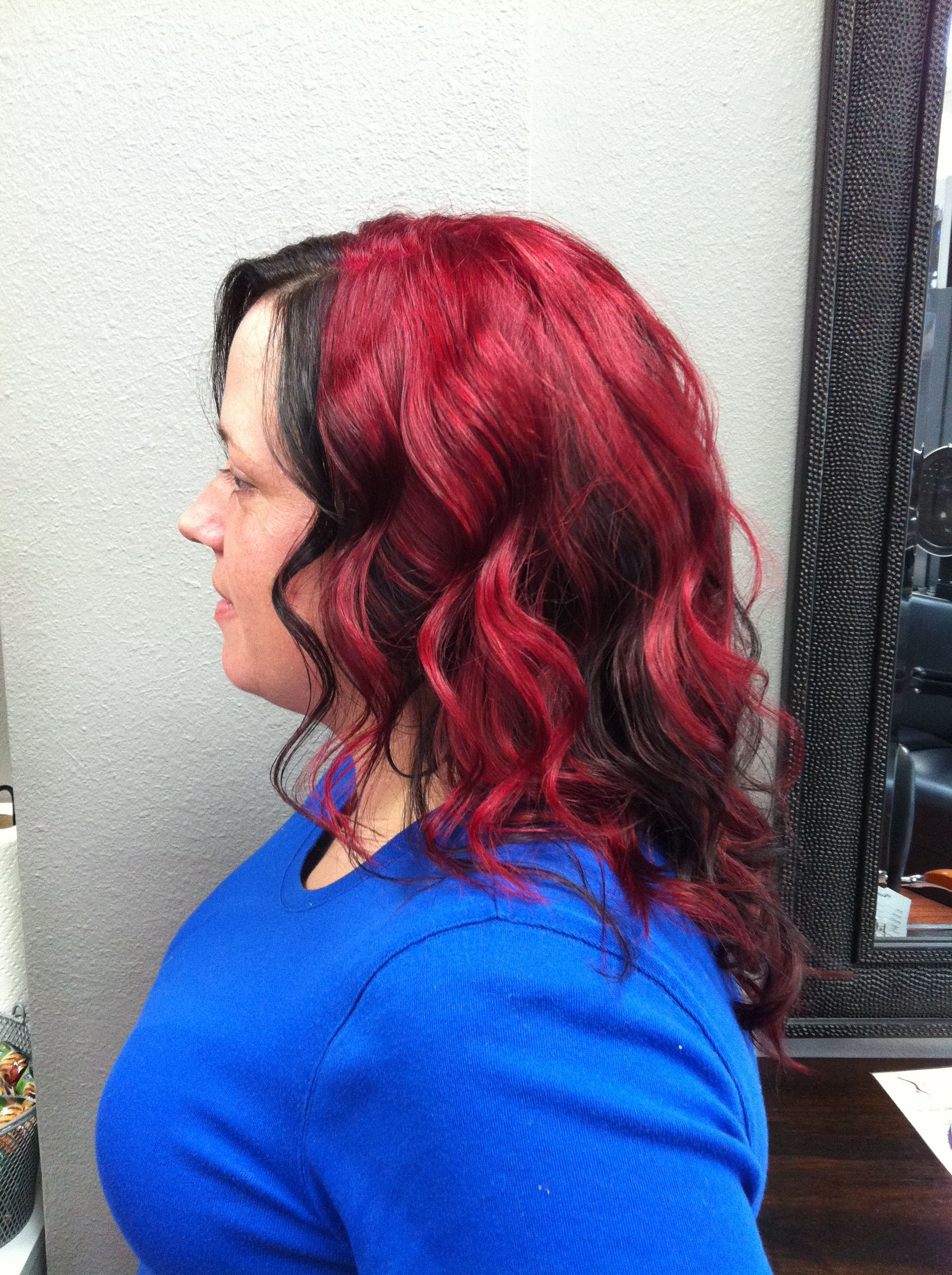 Red Hair I Like The Black Piece In The Front Would Be Cute To