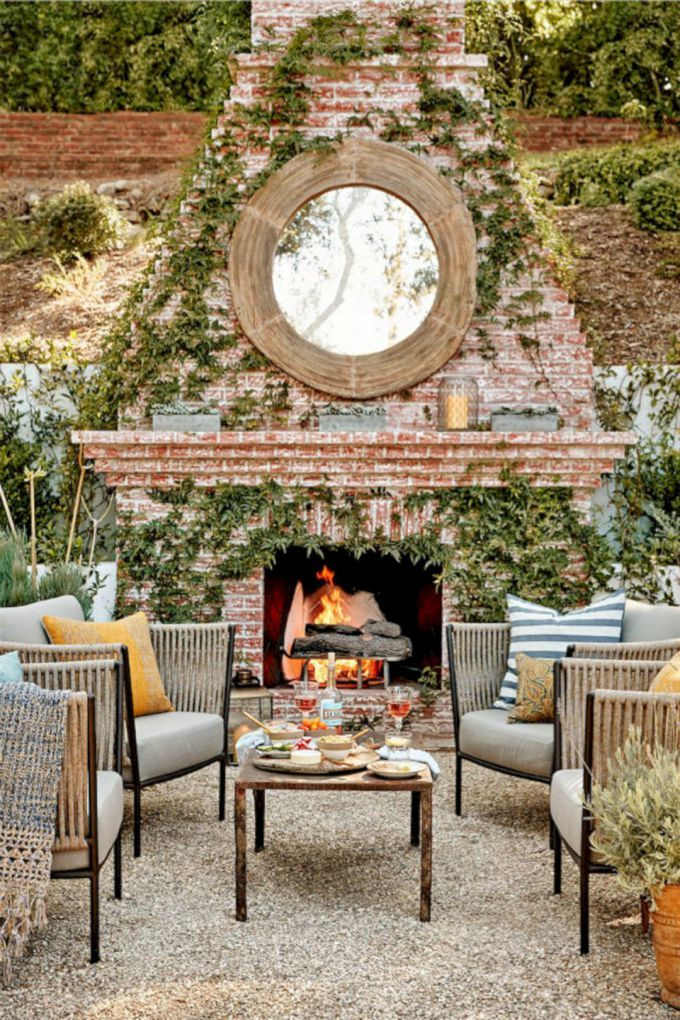 best Ideas of Amazing Decorating Rustic Italian Houses 19 ... on Amazing Outdoor Fireplaces  id=52278