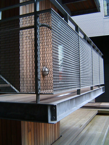 Expanded metal balcony railings security mesh for Modern balcony railing design