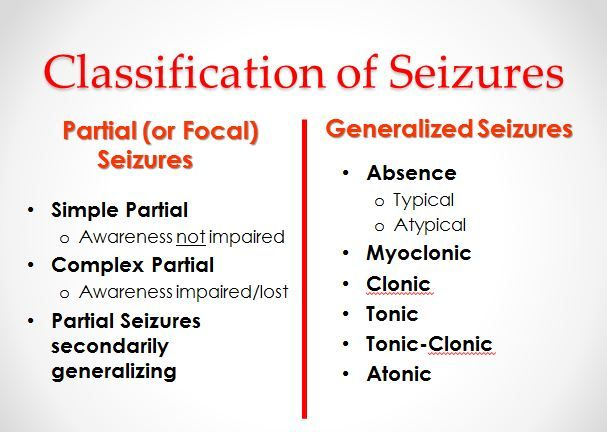 chart of common seizure types epilepsyseizure