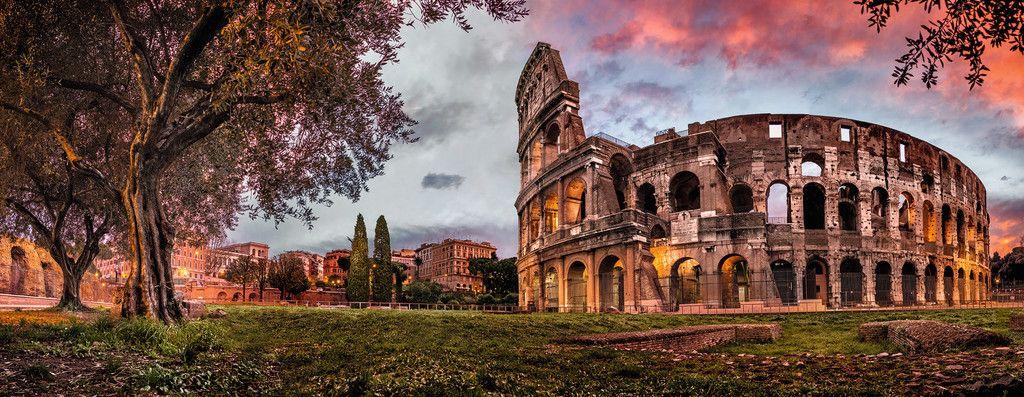 Colosseum im Abendrot | Puzzle |
