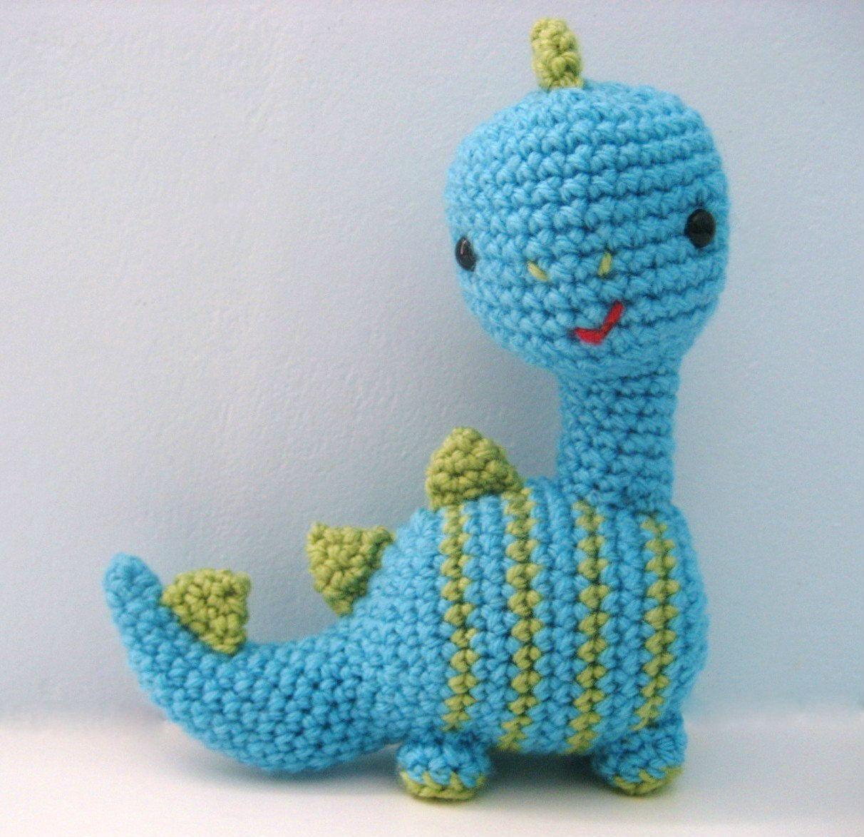 Amigurumi Crochet Dinosaur Pattern Digital Download #crochetdinosaurpatterns