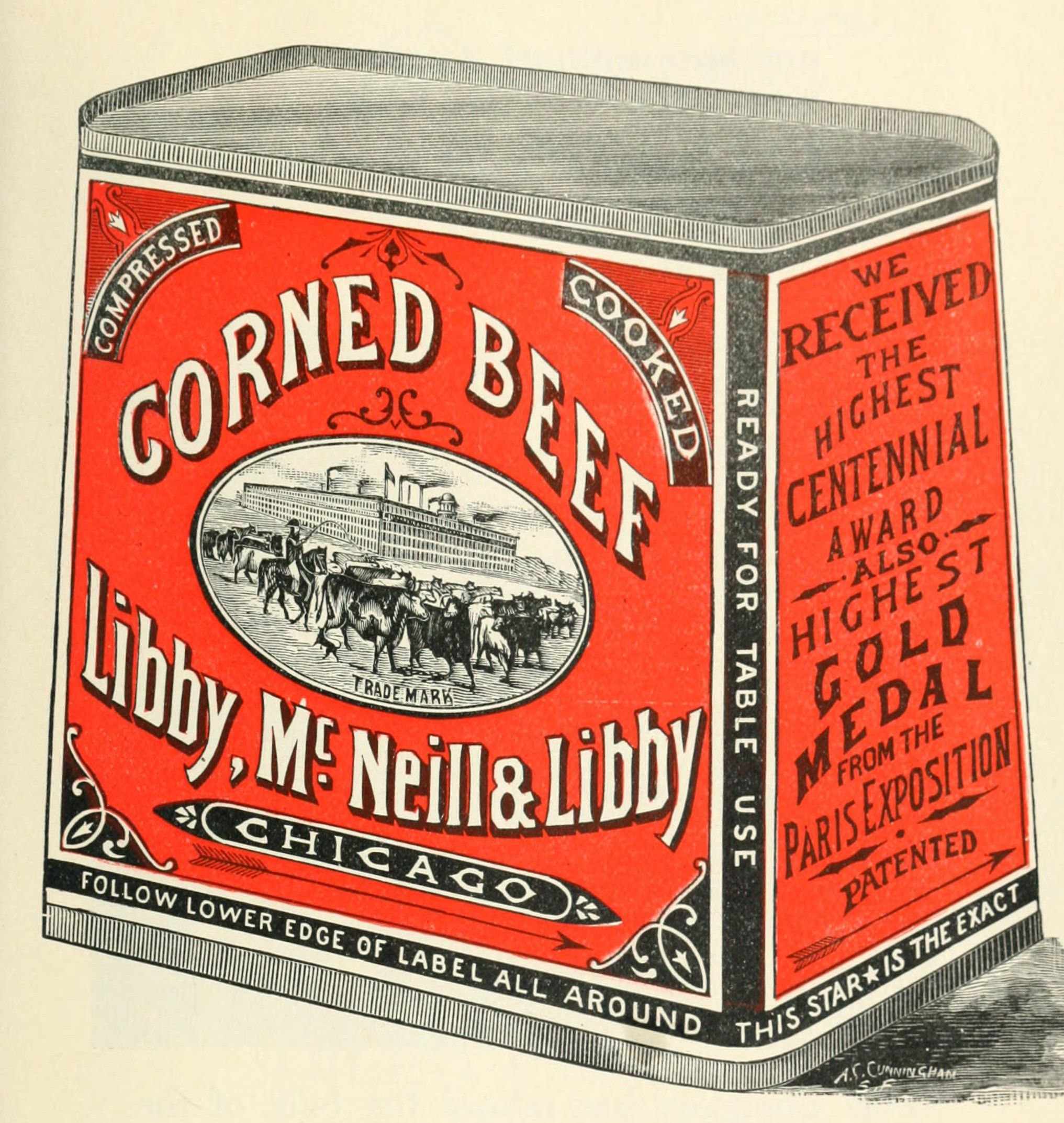 Image result for corned beef tins 1950s