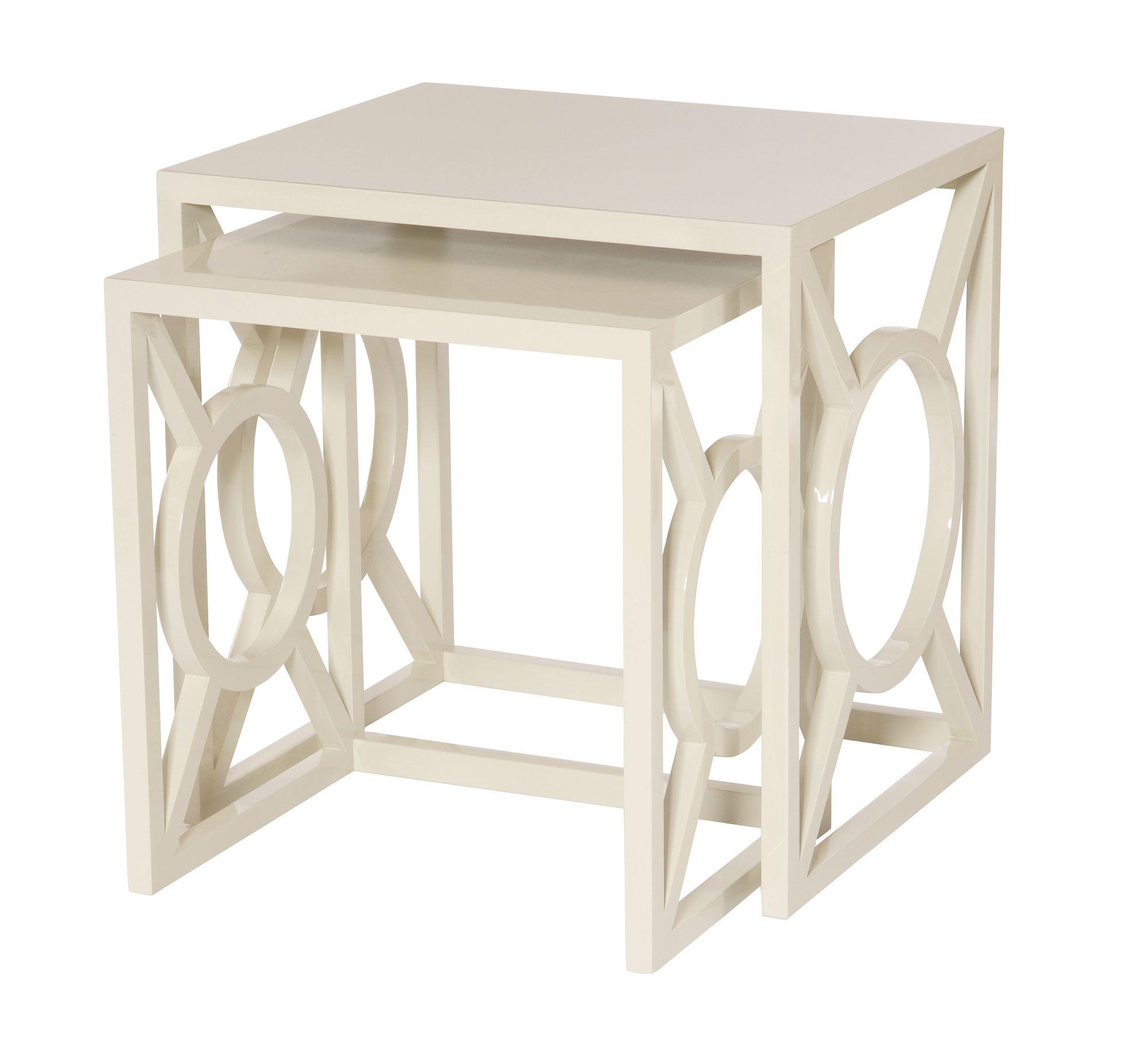 348-030 Zara Nesting Tables | Bernhardt W 24 D 20 H 24 Alabaster ...