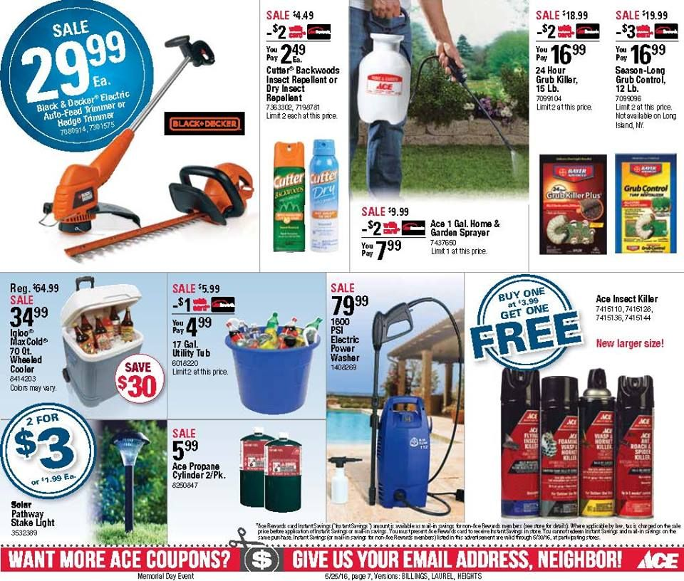 Idea by kings ace hardware on flyerspromotions ace