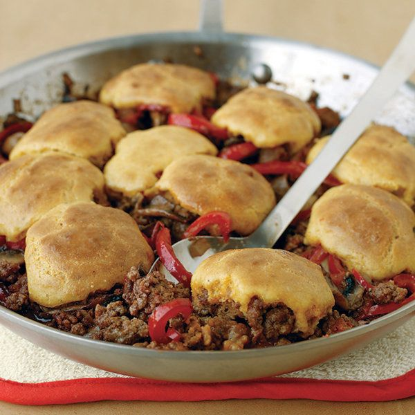 Cornbread-and-Beef Skillet Pie Recipe | Food Recipes - Yahoo! Shine