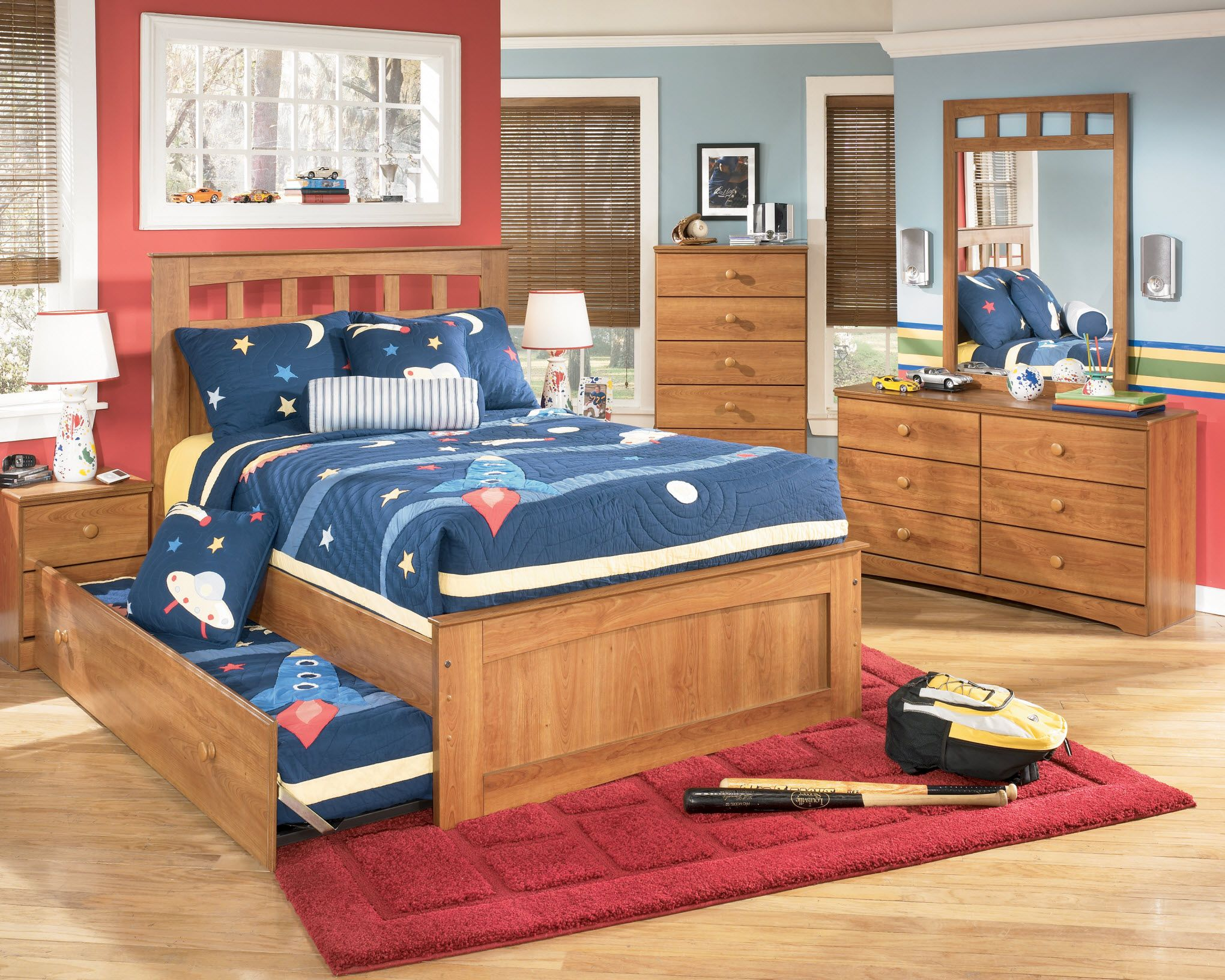 16 Cool Boys Bedroom Sets Ideas Ome Speak  With Regard To Really Encourage Decor Red Fluffy Carpet Tiles Corner Storage Cabinet