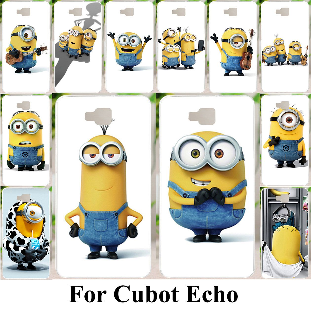 Silicone Phone Case For Cubot Echo Shock Proof Housing Shell Cover Skin Bag Coque For Cubot Echo Yellow Minions Ba Minion Bag Silicone Phone Case Yellow Minion