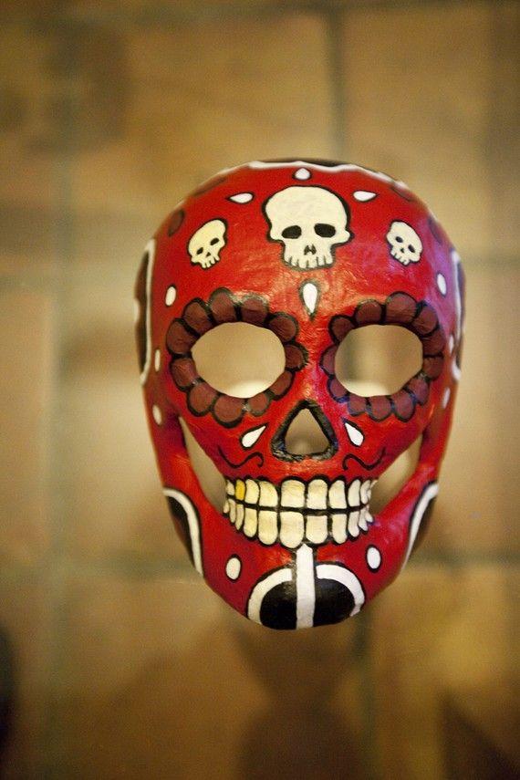 Dia de los muertos mask | Masking, Sugar skulls and Sugaring