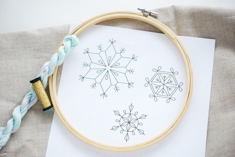 Embroider 3 Free Snowflake Patterns | embroidery | Pinterest ...