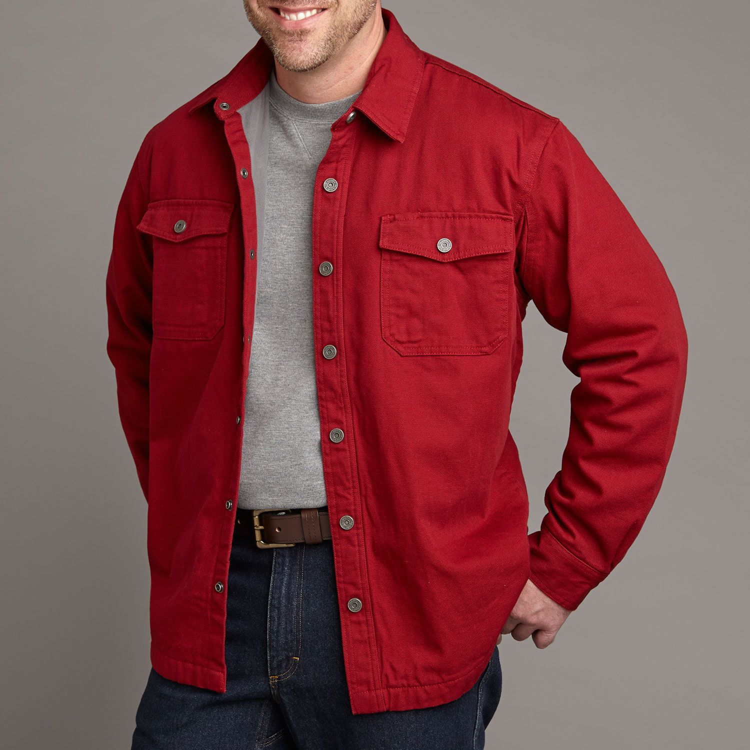 Dark Red - Duluth Trading Co Men's Fire Hose Hanger Bender Shirt ...