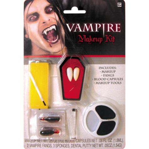 Vampire Makeup Kit - Party City | Face and body art