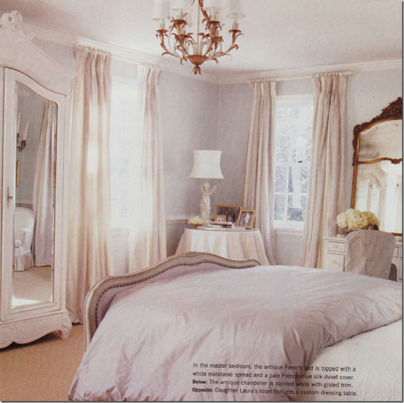 pale french blue and cream bedroom. | Blue, cream bedroom ...
