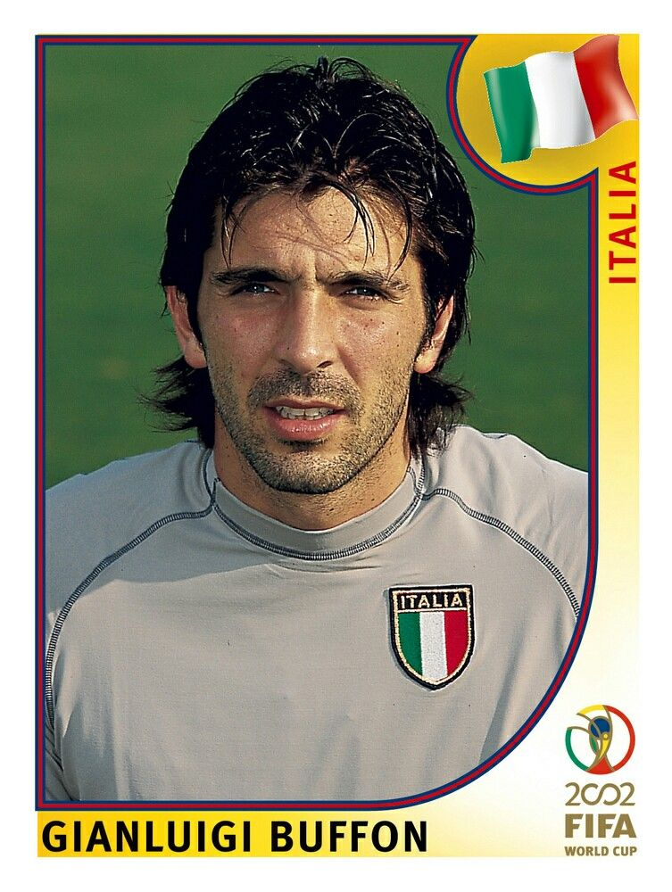 459 Gianluigi Buffon Italia Fifa World Cup Korea Japan 2002 Figurinhas Da Copa Guarda Redes Jogadores De Futebol