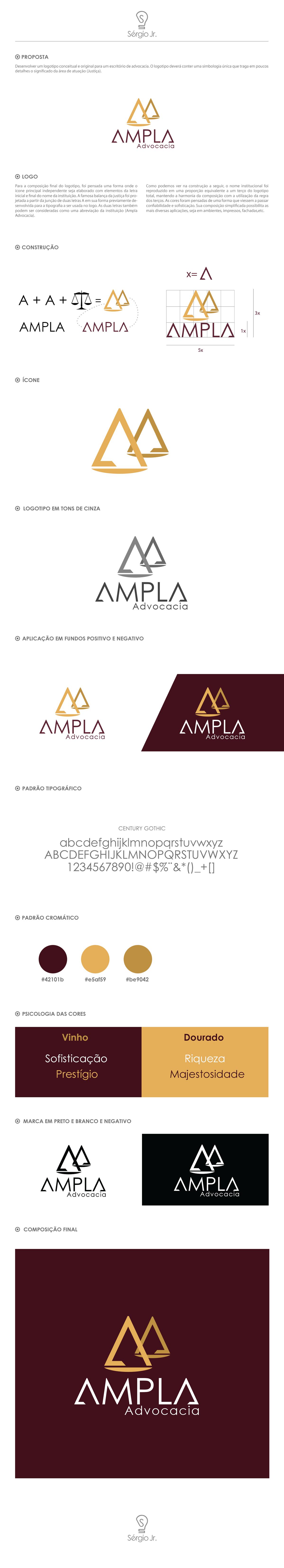 Logotipo Ampla Advocacia on Behance
