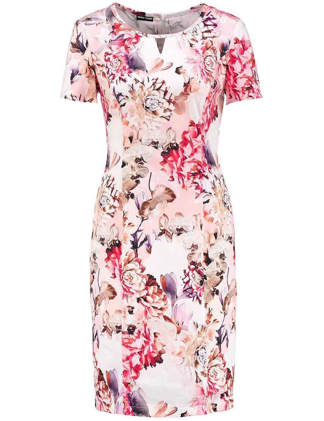 Gerry Weber Kleid Langarm Kurz Kleid Mit Feinem Alloverdessin Fashion Fashion Outfits Dresses