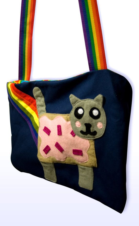 11da3aec8f18 Nyan Cat Rainbow Poptart Cat Tote Bag by RedPanic on Etsy