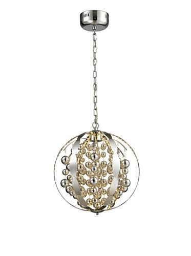 Artistic Lighting Light Spheres Collection Small LED Pendant, Polished Chrome