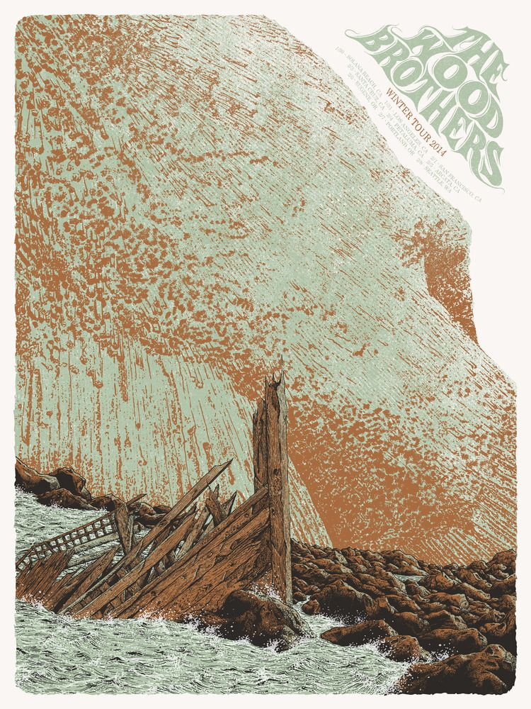 The Wood Brothers tour poster by Neil Williams.