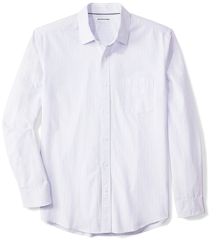 JINIDU Mens Classic Fit Casual Short Sleeve Plaid Collar Polo Shirt