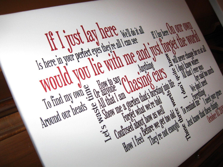 Cool Idea With Song Lyrics Wall Phrases Word Art Canvas Word Art