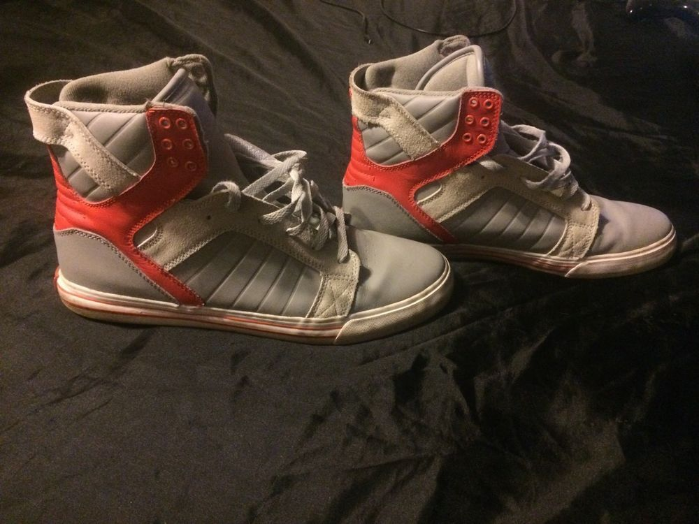 3ca765e24265 Supra Skytops Orange Grey 12  fashion  clothing  shoes  accessories   mensshoes  athleticshoes  ad (ebay link)