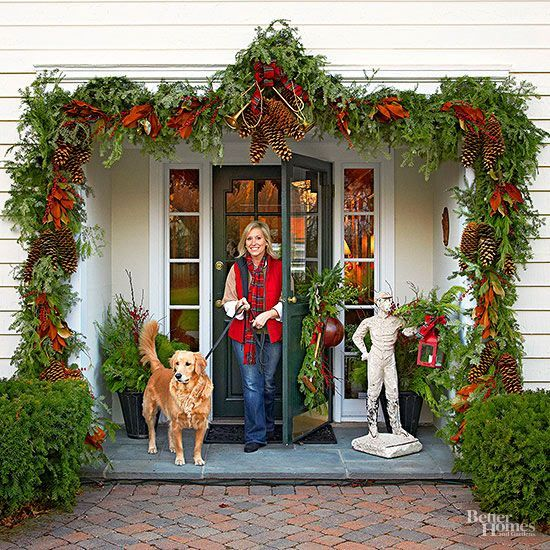 10 Easy Front Porch Holiday Decorating Ideas
