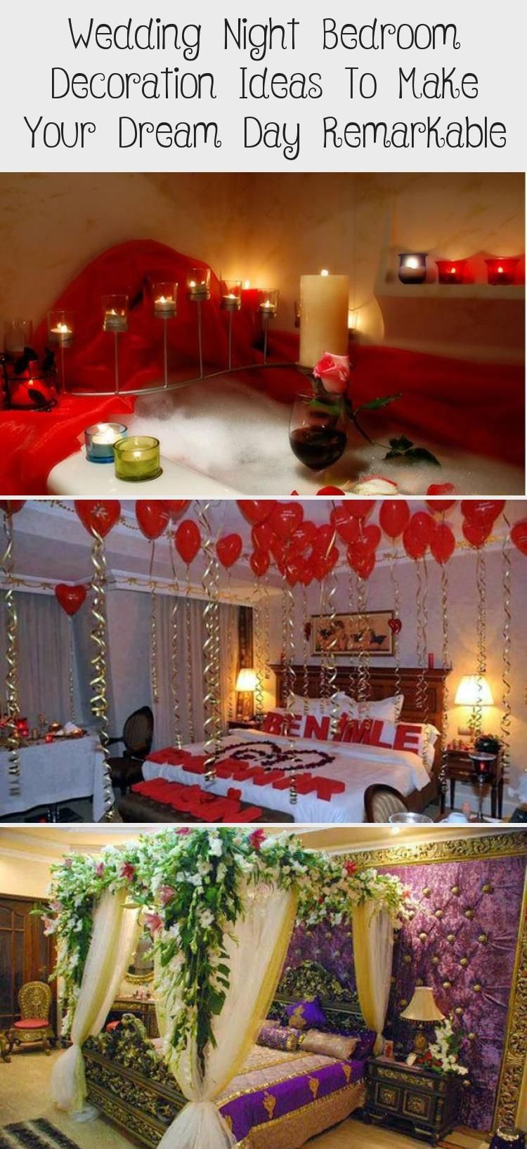 Wedding Night Bedroom Decoration Ideas To Make Your Dream Day Remarkable Valentines In 2020 Bedroom Night Wedding Night Bedroom Decor